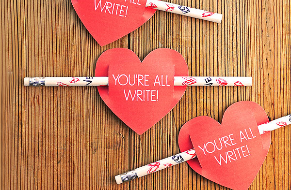 Pencils and hearts | Lifestyle blogger Elle Bowes shares Valentine's Day ideas for kids.