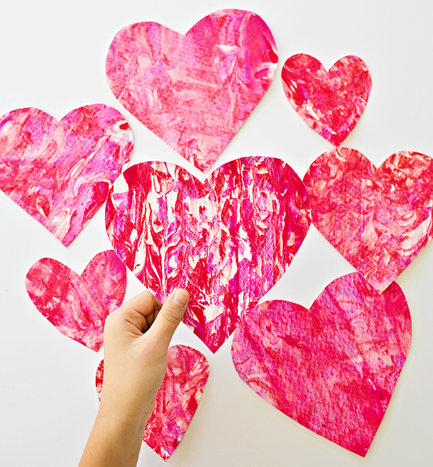 Hand cut hearts | Lifestyle blogger Elle Bowes shares Valentine's Day ideas for kids.