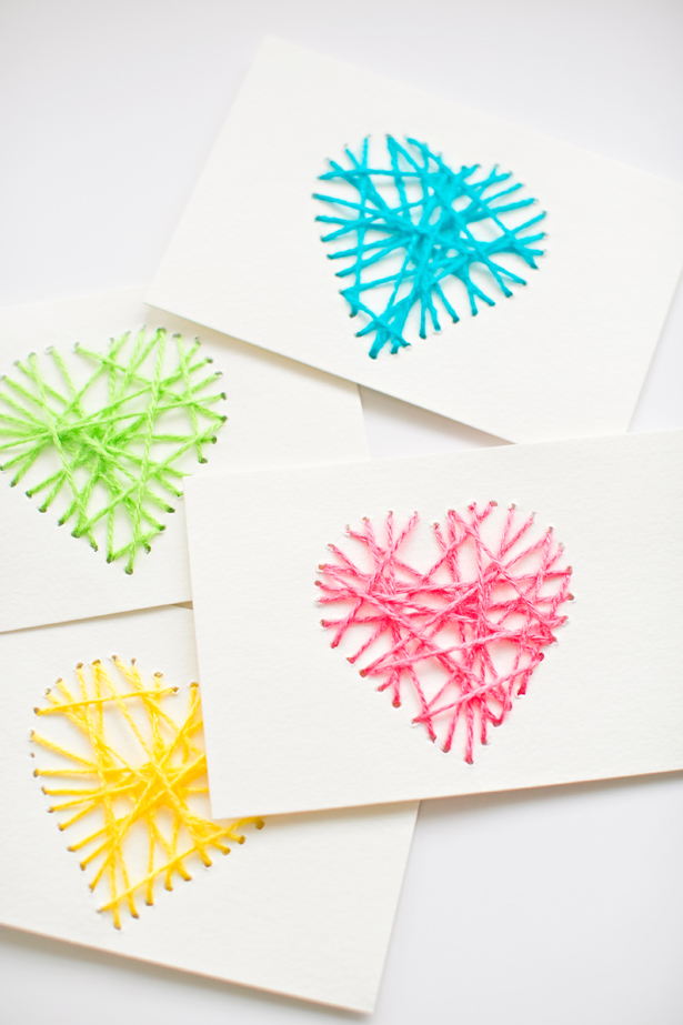 Yarn hearts | Lifestyle blogger Elle Bowes shares Valentine's Day ideas for kids.