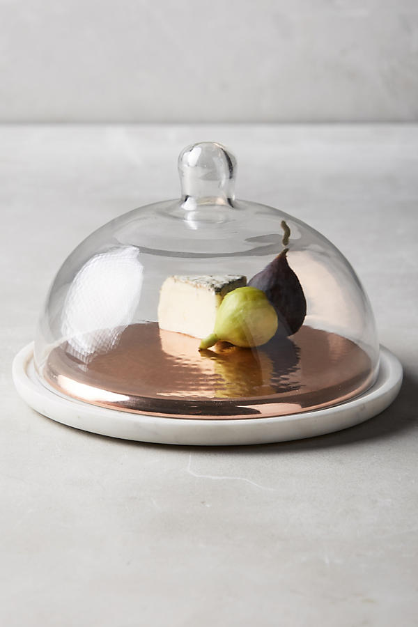 Anthropologie Marble Cheese Dome | Lifestyle blogger Elle Bowes | White kitchen decor ideas