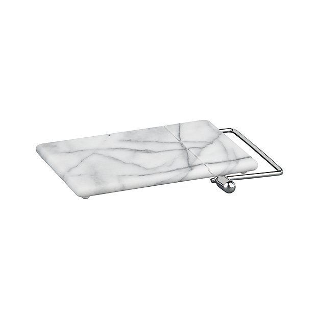 Crate & Barrel Marble Cheese Slicer | Lifestyle blogger Elle Bowes | White kitchen decor ideas
