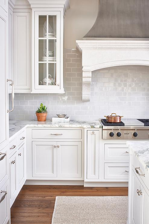 custom grey and white hood | Lifestyle blogger Elle Bowes | White kitchen decor ideas