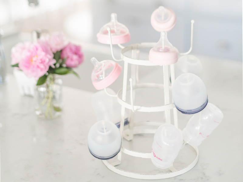 Rustic Baby Bottle Rack   By Lifestyle blogger Elle Bowes
