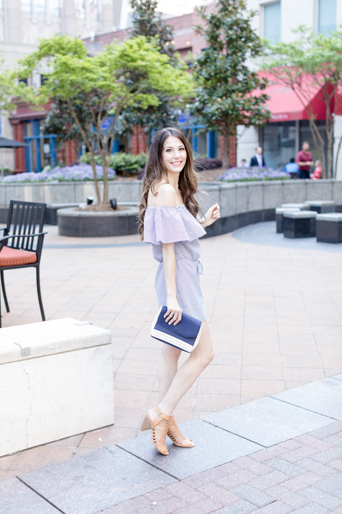 Ruffle Romper   Lifestyle blogger Elle Bowes shares a spring style inspiration.