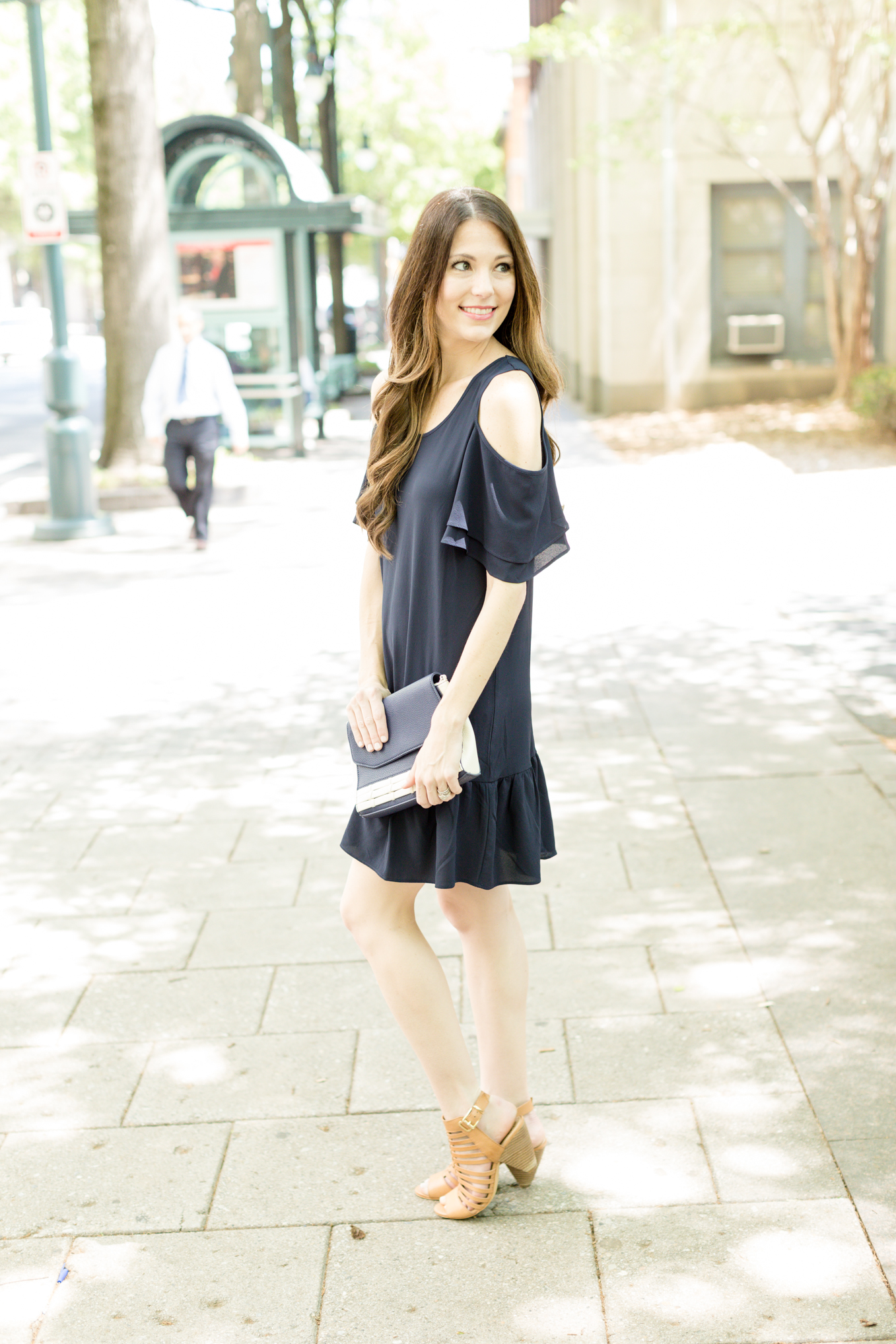 Little Navy Dress | Lifestyle blogger Elle Bowes shares a summer style twist on the LBD