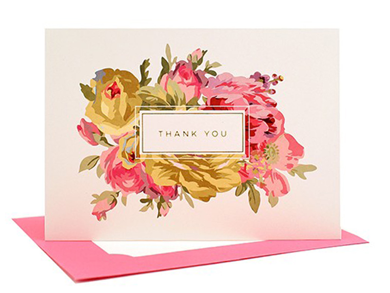 Thank You Card | By Lifestyle blogger Elle Bowes
