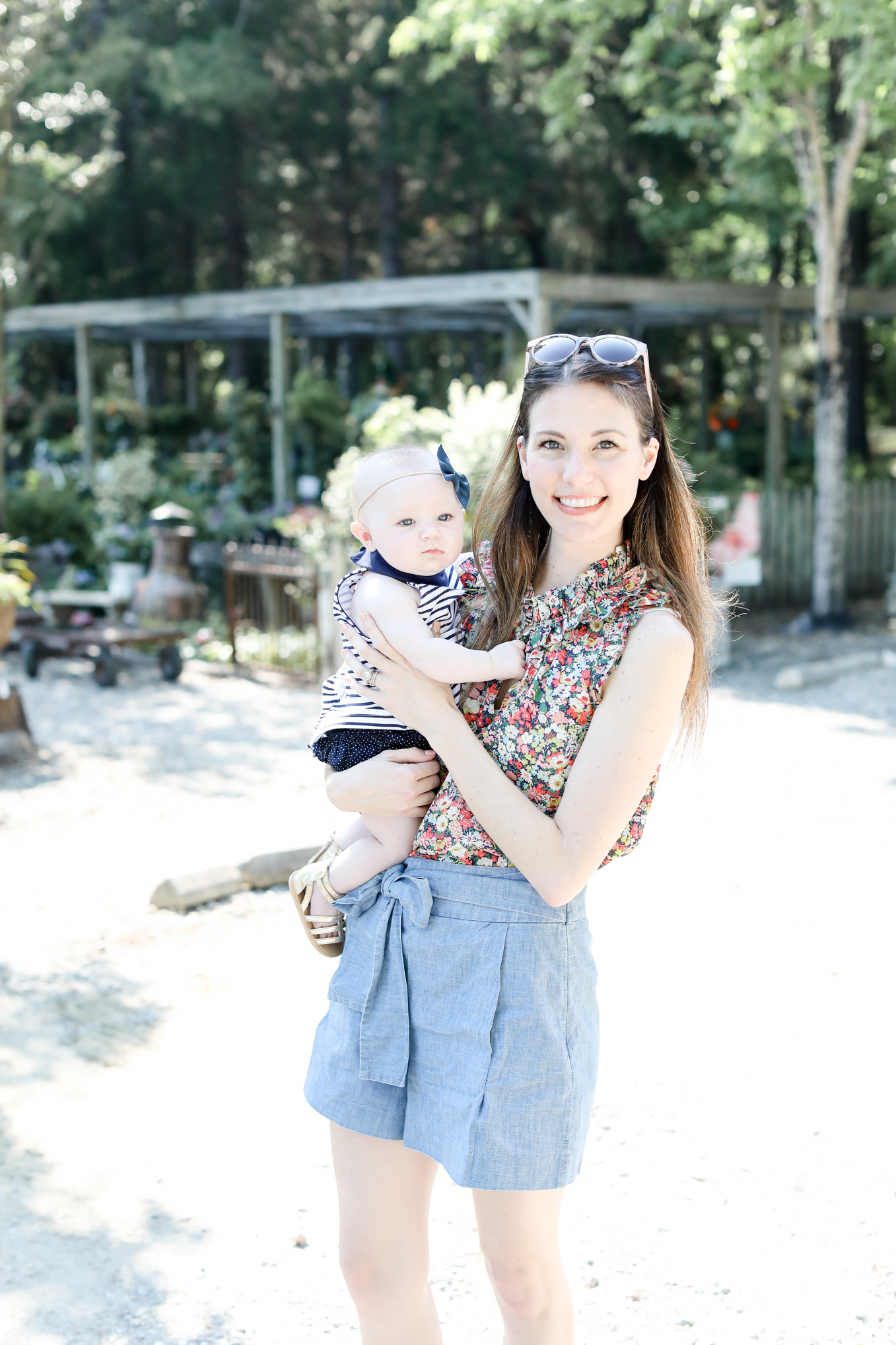 floral print tank with bow shorts | Lifestyle blogger Elle Bowes shares her favorite jcrew new arrivals