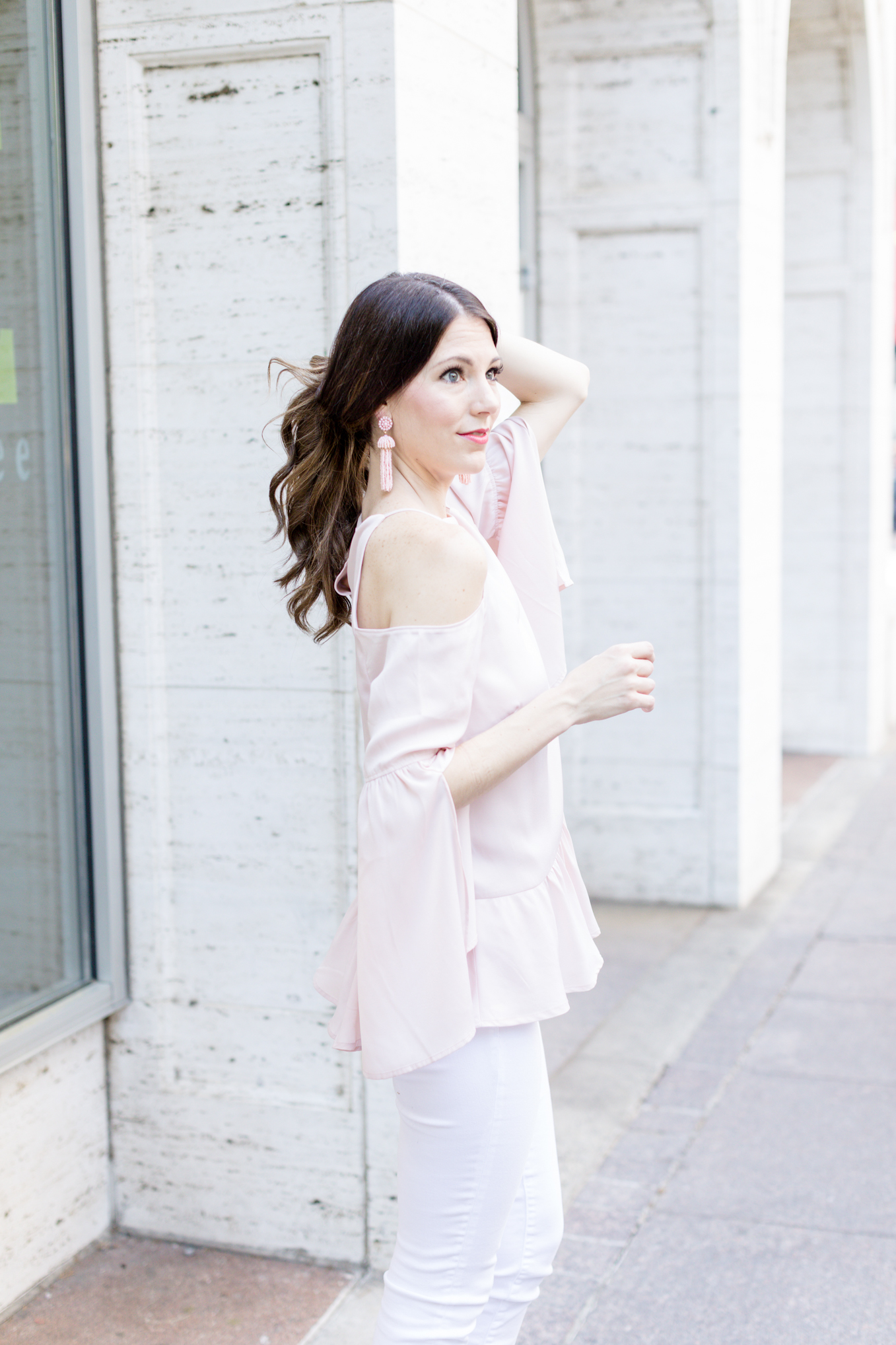 blush pink tassel earrings  | Lifestyle blogger Elle Bowes shares a new accessory