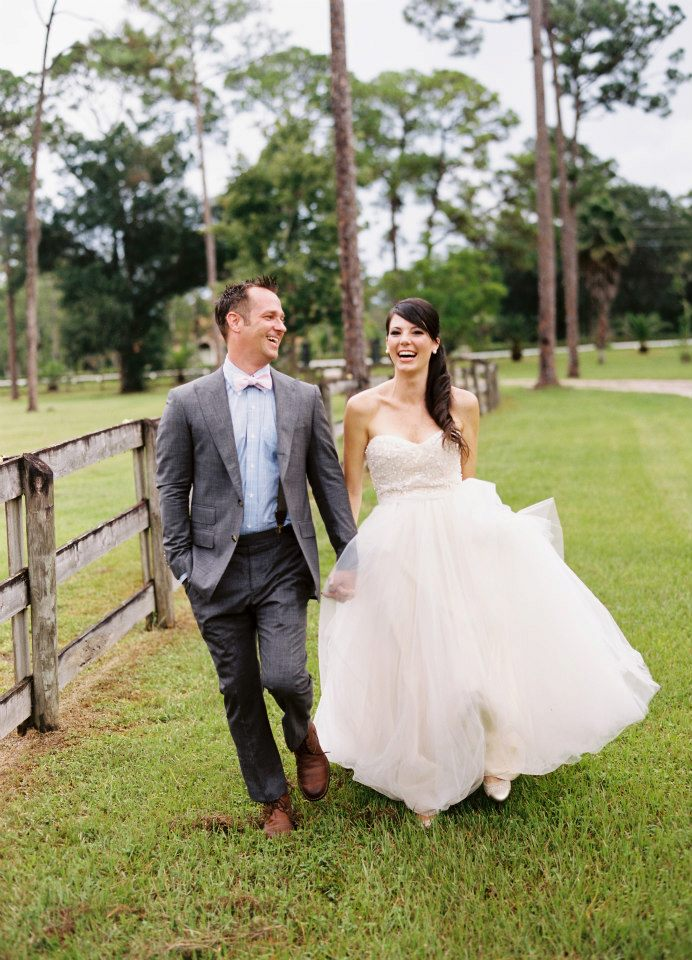 outdoor rustic farm wedding with flowers