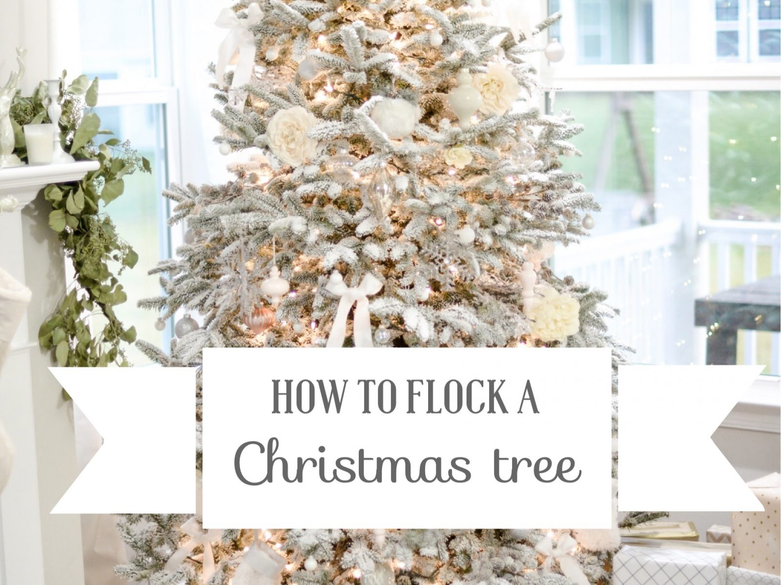 How to Flock a Christmas Tree | Easy DIY Steps